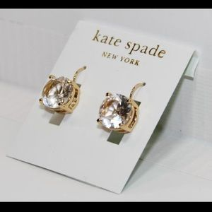Kate Spade Round Leverback Earrings -Clear
